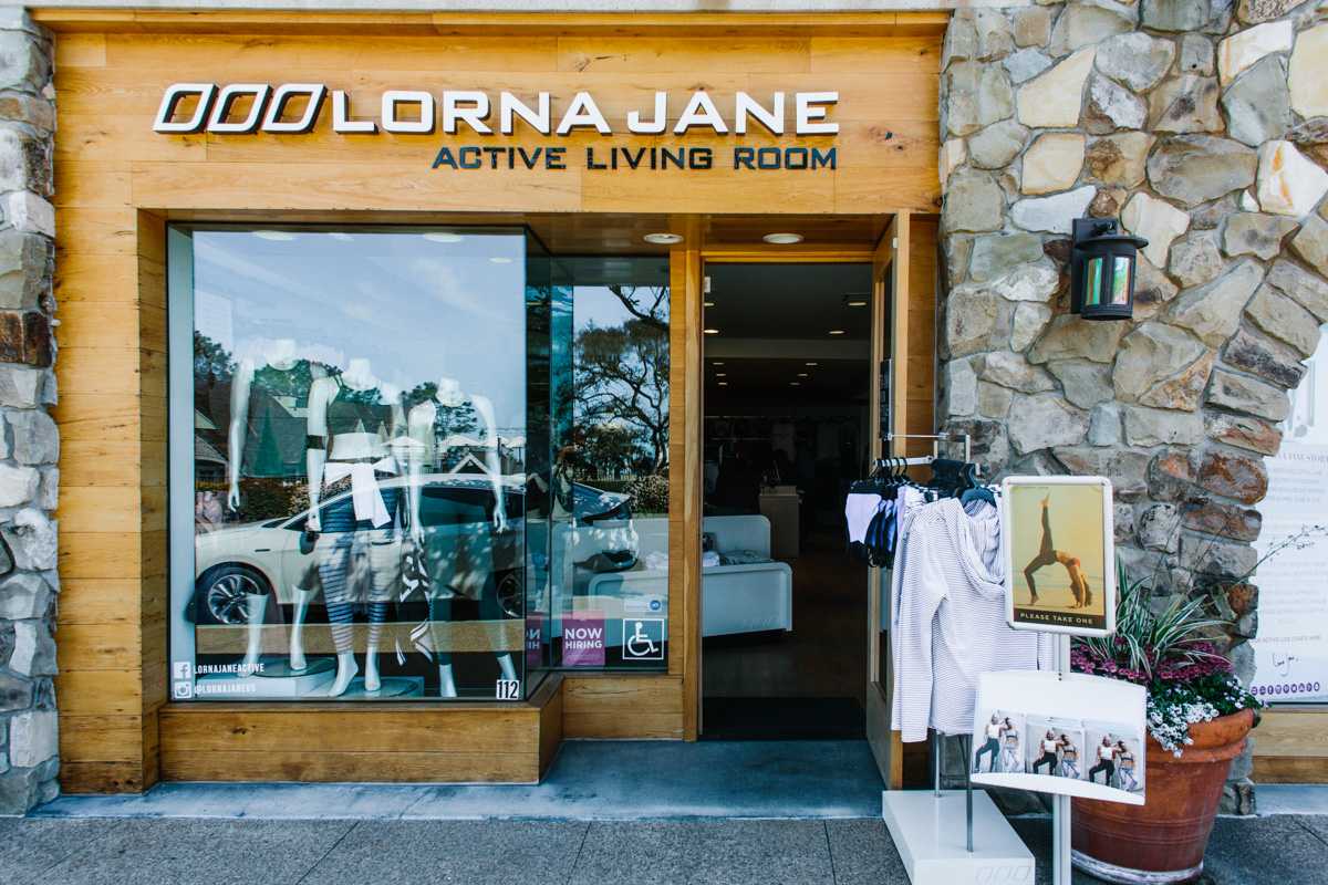 Lorna Jane - Active Living Room retail store with open door