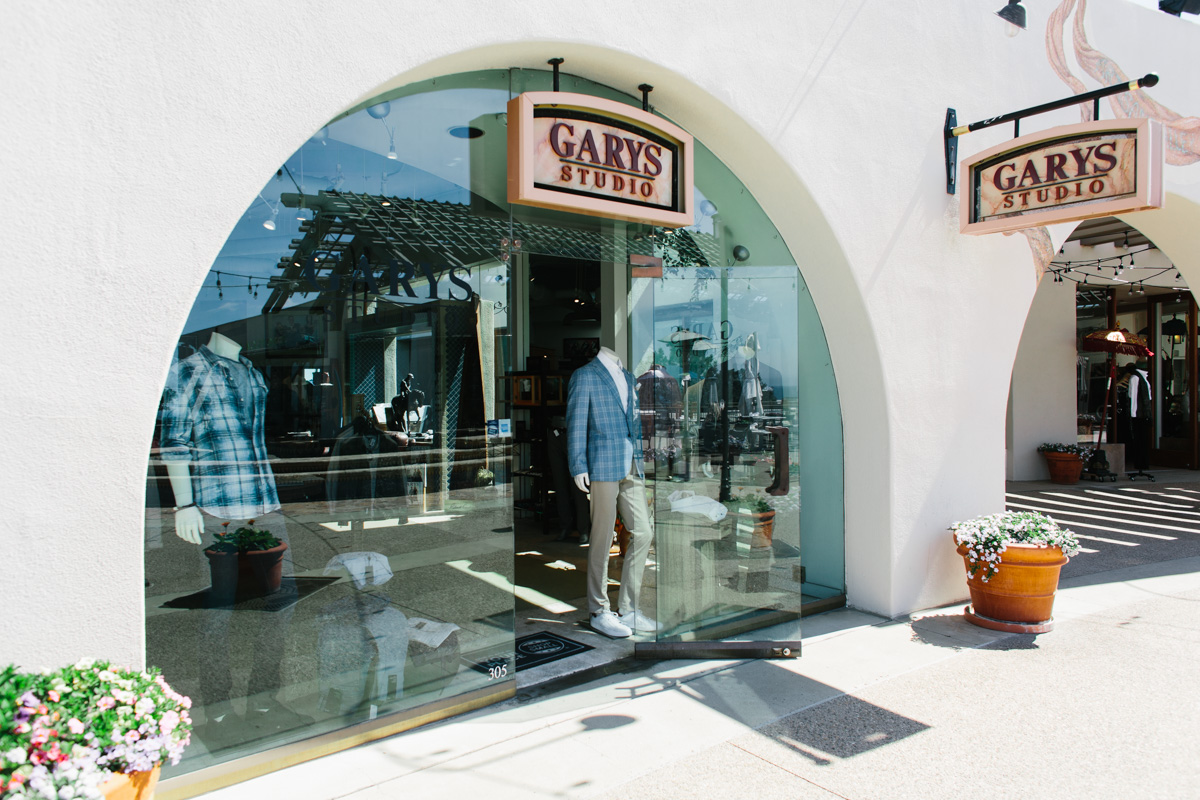 Garys Studio open retail store with signage