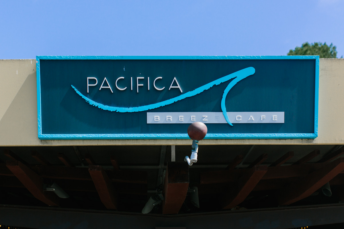 Pacifica Breeze Cafe with blue sign