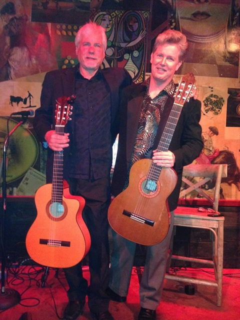 image of the members of Avant Gardeners holding guitars